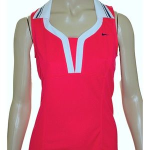 Nike Regatta Pink & White Polo Tank